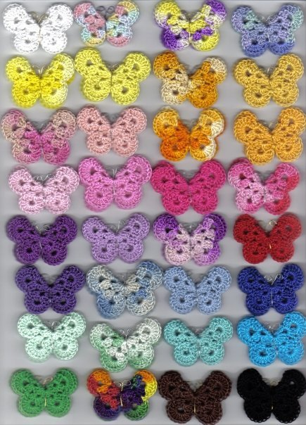 crochet butterfly pattern by angie on her blog