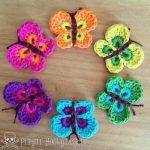 crochet butterfly pattern -u003e get free pattern report