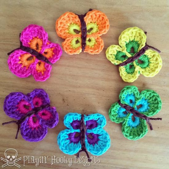 Design your attires with Crochet Butterfly Pattern