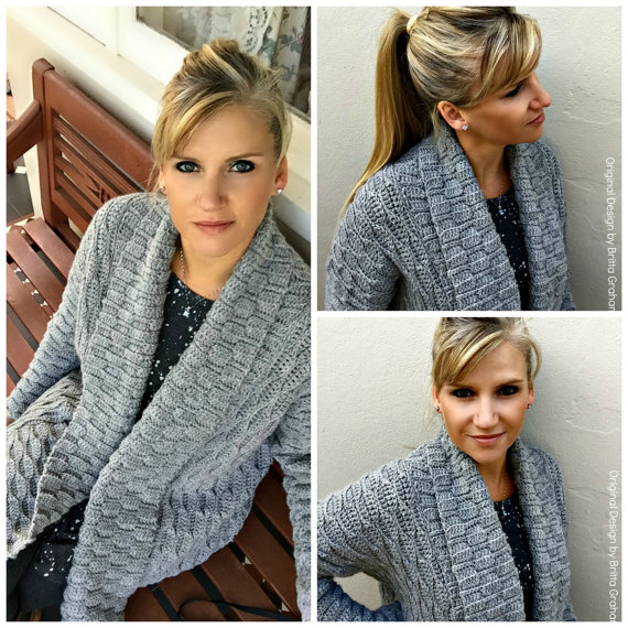 crochet cardigan autumn leaves cardigan crochet pattern for women open style no.925 digital  epattern nikccew