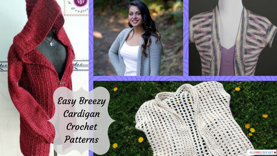 crochet cardigan pattern 40 easy crochet cardigan patterns | allfreecrochet.com cjxwscr