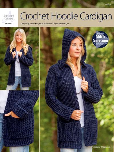 crochet cardigan pattern annieu0027s signature designs: crochet hoodie cardigan crochet pattern irsgbwv