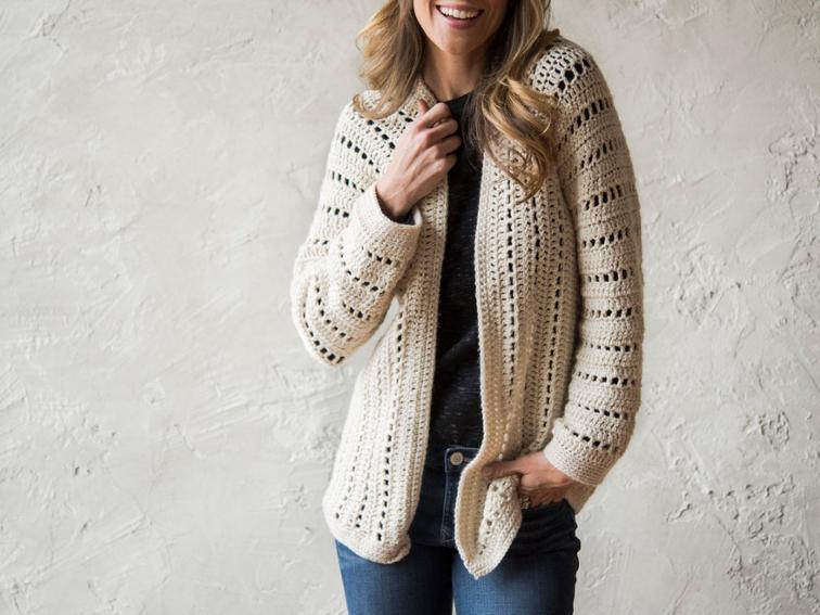 crochet cardigan sporty one-piece cardigan crochet kit | craftsy ssvptix