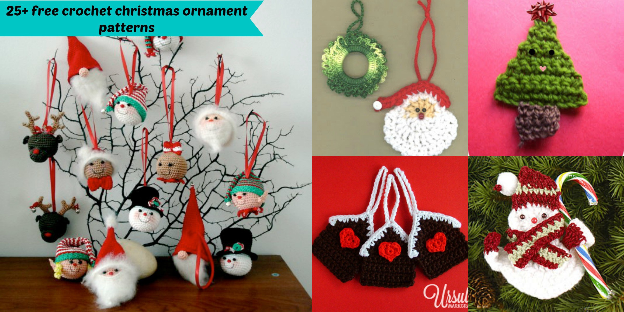 crochet christmas ornaments 25+ free crochet christmas ornament patterns jcuqetd