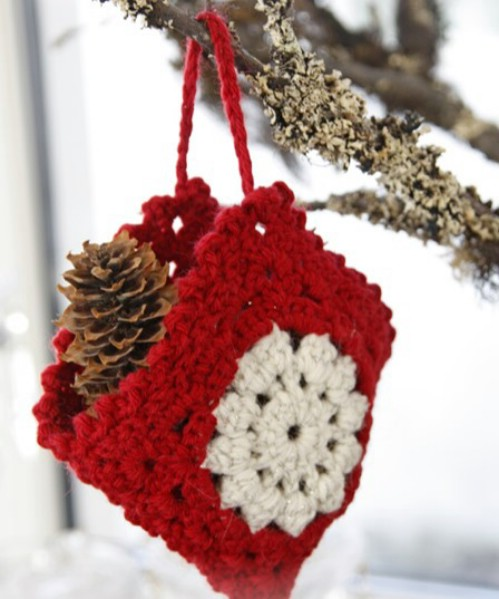 crochet christmas ornaments easy crochet christmas bag ornament ugbmqnt