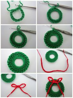 crochet christmas ornaments lacy crochet: mini christmas wreath free pattern in case i ever learn to arkodqf