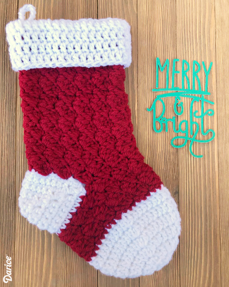 crochet christmas stocking for this free crochet stocking pattern i made a contrasting toe, heel, and zradfls