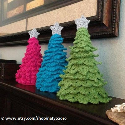 crochet christmas trees instant download 3 crochet christmas tree decoration - 3 different designs  with zxhwdnl