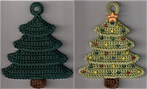 crochet christmas trees ravelry: christmas tree potholder pattern by priscilla hewitt faigxsu