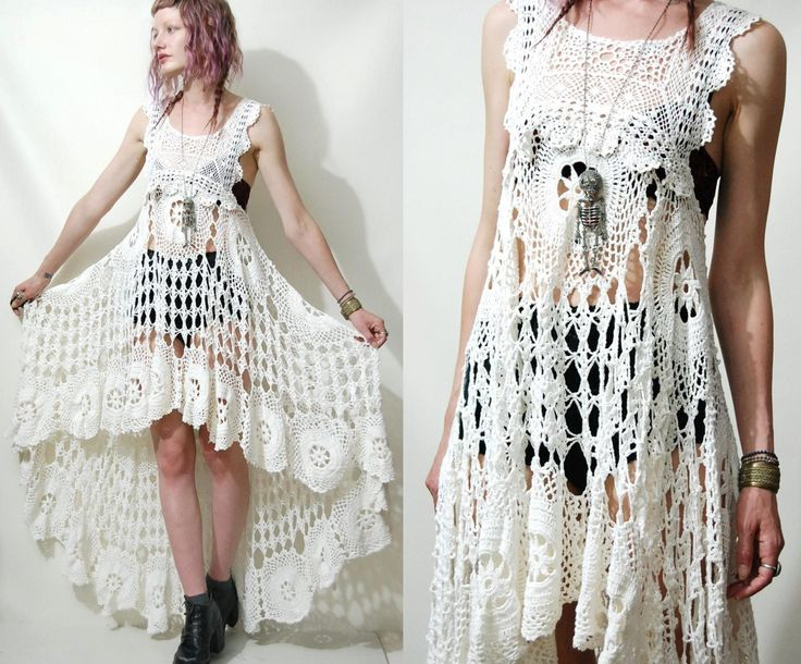 crochet clothing discovered on etsy: this great crocheted dress by crux and crow made with qtdvpjs