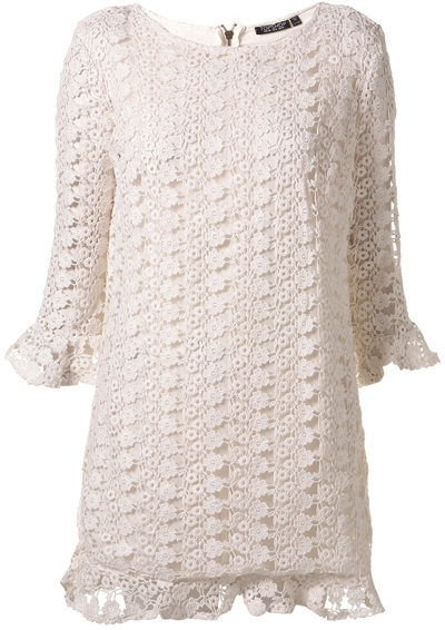 crochet clothing topshop all over crochet shift dress tpnmyaa