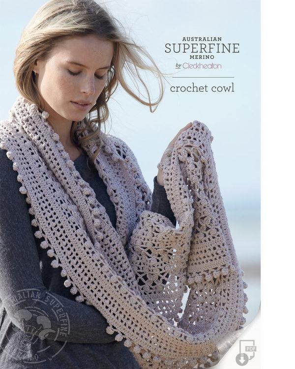 crochet cowl pattern - cleckheaton superfine qfljpid