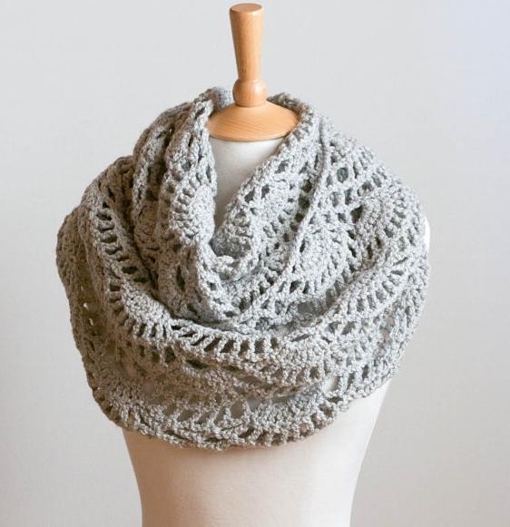 crochet cowl pattern crochet pattern instant download - lacy grey cowl - gray intricate neck kpdxvpl