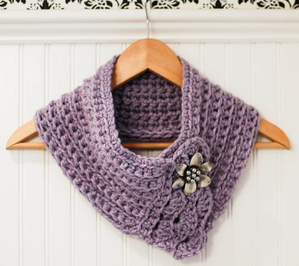 crochet cowl pattern crochet pattern - pretty cowl / scarf / scarflette tgkhzpn