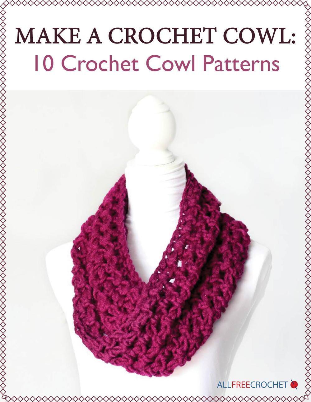 crochet cowl pattern make a crochet cowl: 10 crochet cowl patterns | allfreecrochet.com rqyfmzv
