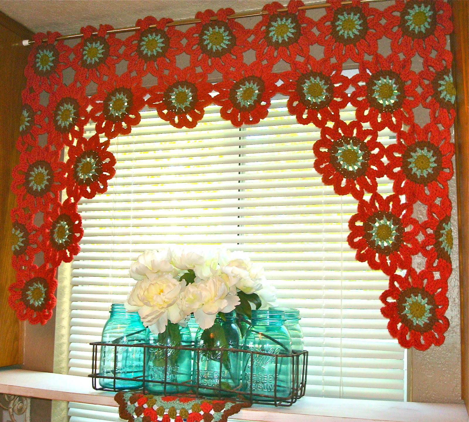 Make Your Bare Window Look Beautiful with Crochet Curtains