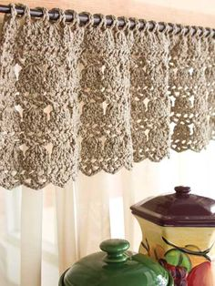 Crochet Curtains crochet kitchen curtain gsqwhtj
