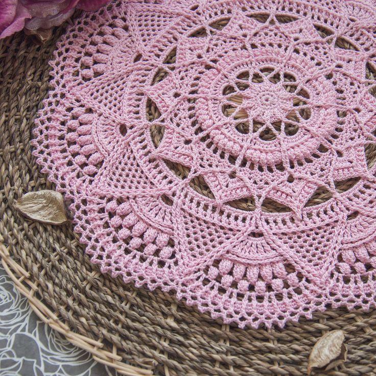 crochet designs crochet patterns textured crochet doily with intricate details. this pattern  is written xbjtkll