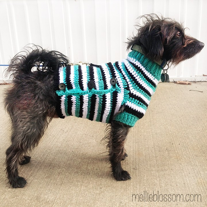 crochet dog sweater - mellieblossom.com nhyqjln