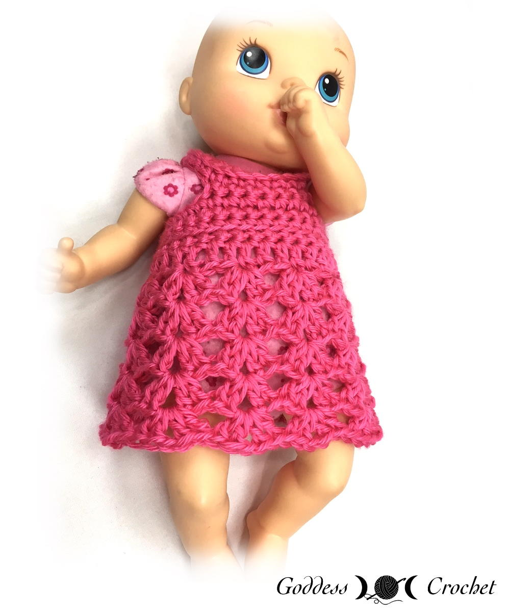 crochet doll baby doll dress jqgzslq