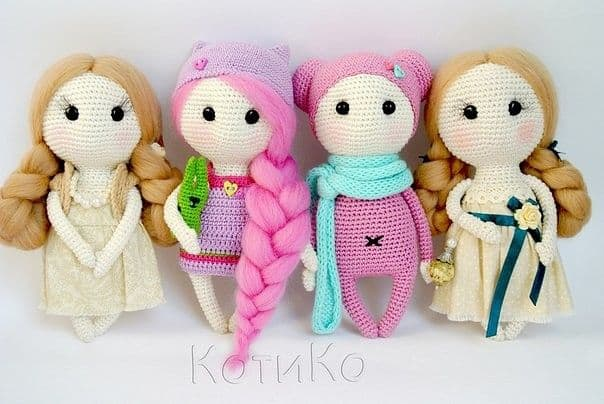 Handmade Crochet Dolls by LinaMarieDolls on Etsy ---- rag doll ... | 404x604