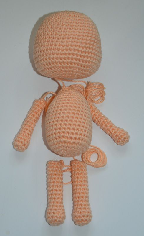 Amigurumi Doll Body Pattern, Crochet Mini Amigurumi Doll, Little ... | 800x489