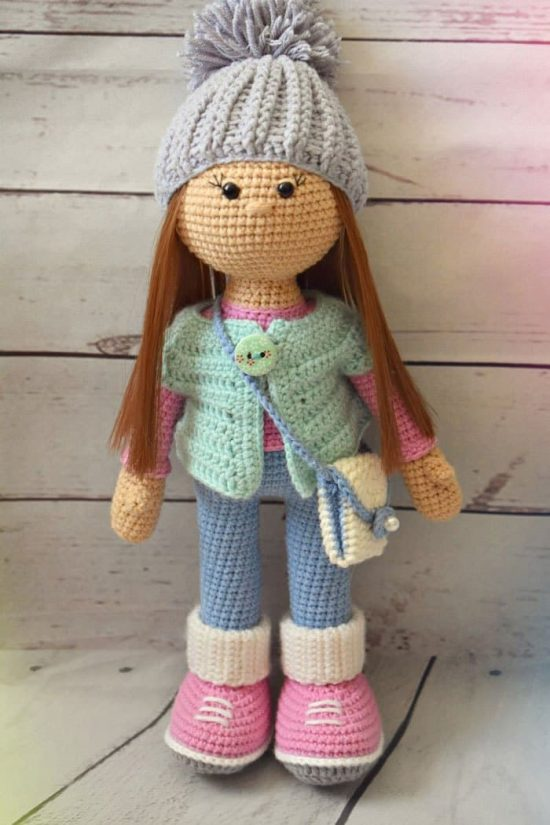 crochet doll patterns get pattern here -u003e crochet molly doll free pattern ... fpqlhqf