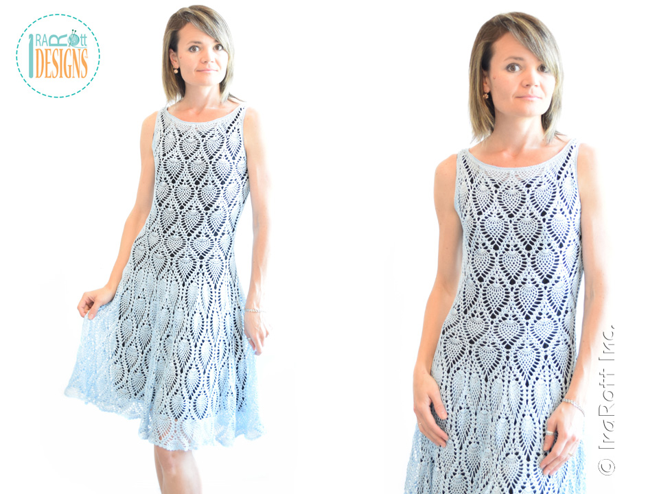 crochet dress pattern crochet pineapple pattern tutorial for making a charming prom dress or  wedding mleggtw