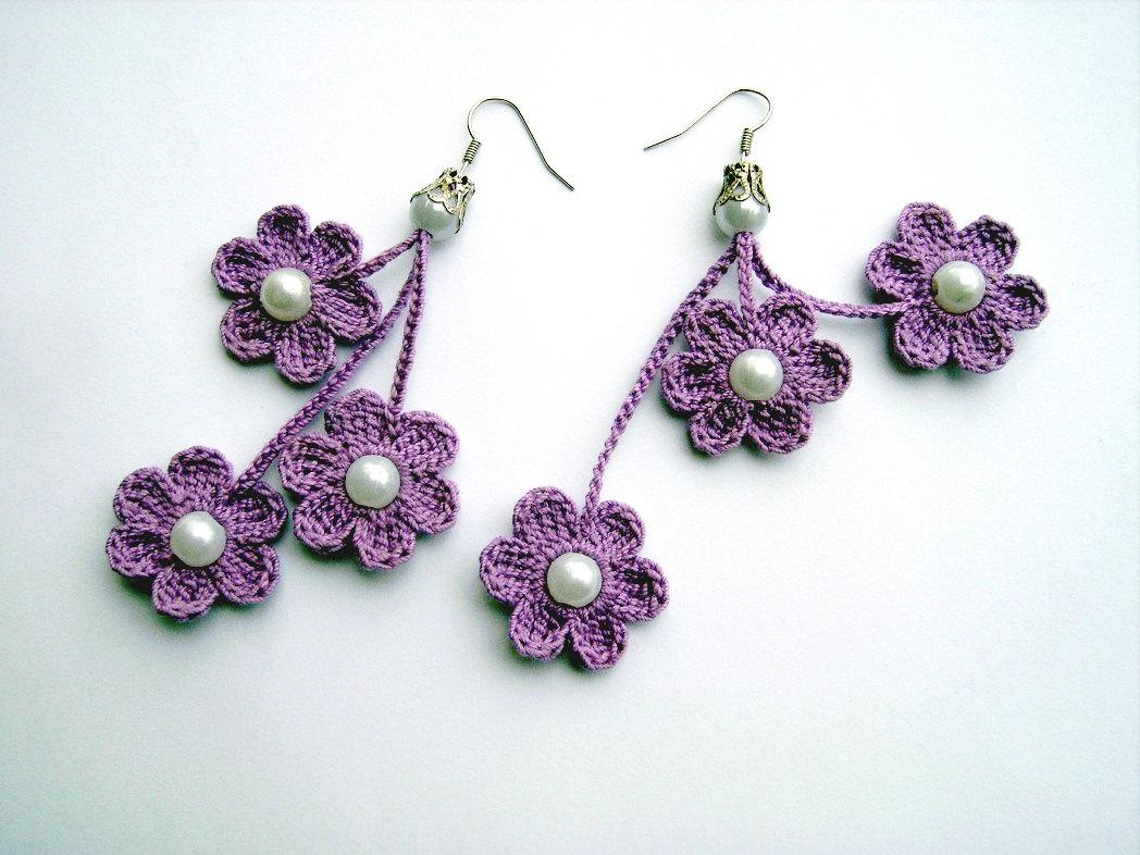crochet earrings 🔎zoom xbatxsd