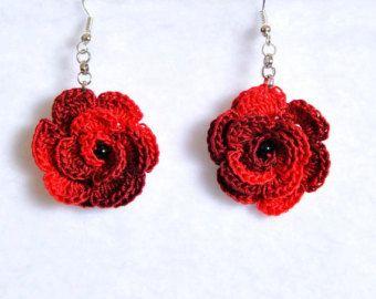 crochet earrings crochet earring jewelry large crochet earring