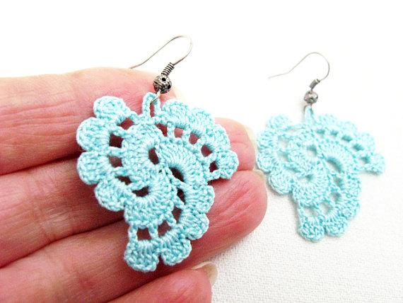 crochet earrings pdf tutorial crochet pattern...dangle earrings -20
