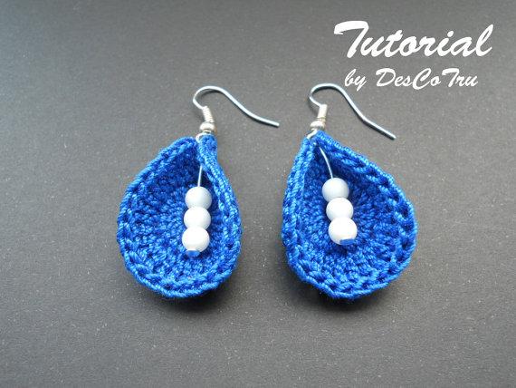 crochet earrings with beads tutorial - do it