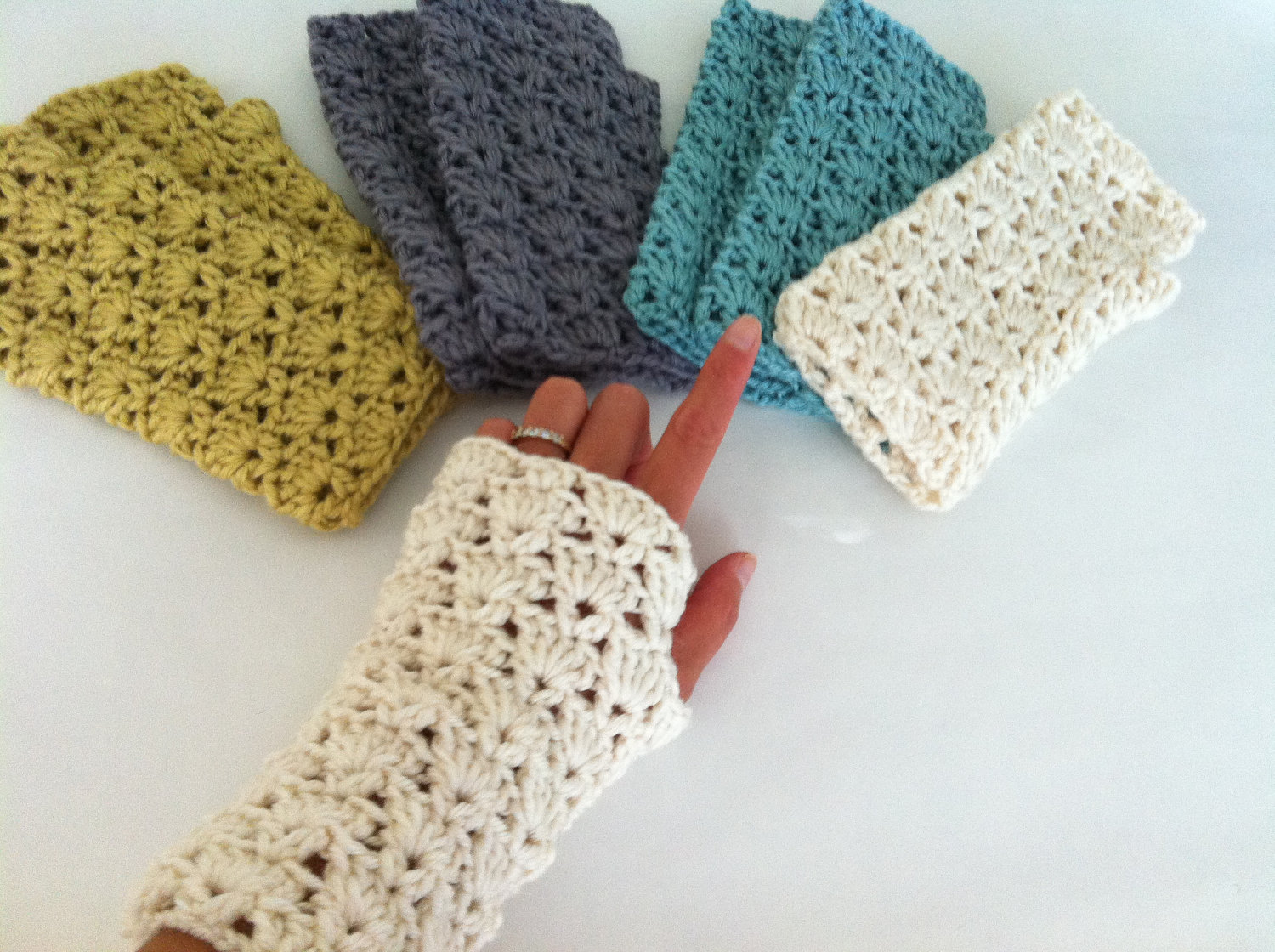 crochet fingerless gloves 🔎zoom ucwjcpz