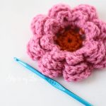 Knitting Crochet flower pattern