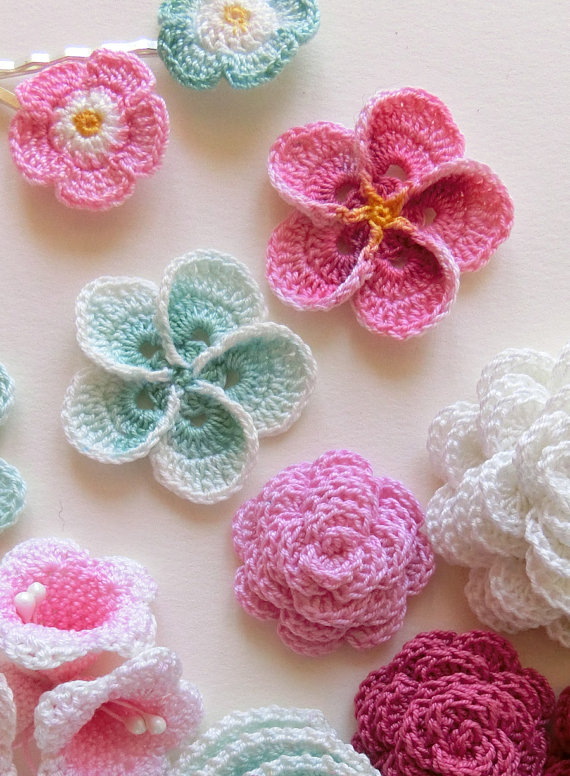 Crochet Flower Patterns crochet flower pattern, crochet plumeria frangipani pattern, photo  tutorial. hawaiian flower applique, gddcinq