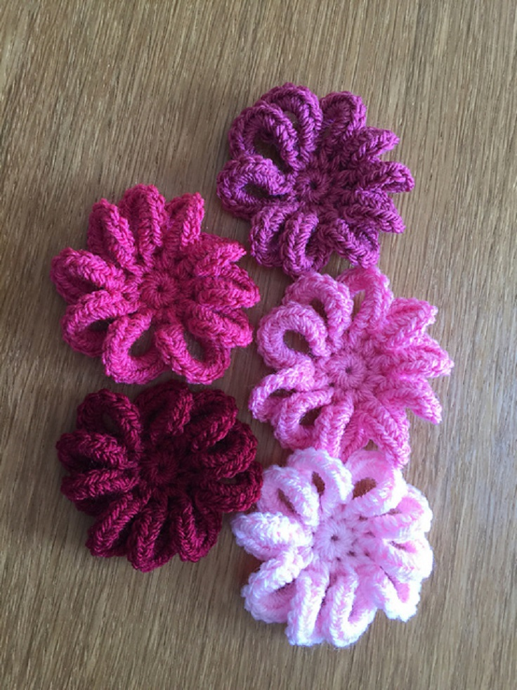 Crochet Flower Patterns loopy flower free crochet pattern hycvufc
