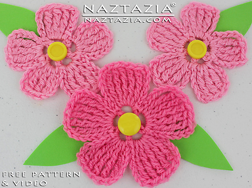crochet flowers ravelry: large petal crochet flower pattern by naztazia rheiulg