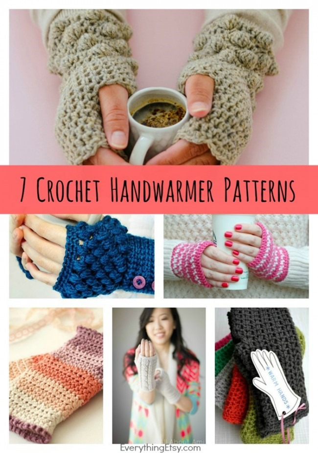 crochet gifts diy-crochet-handwarmer-patterns-7-free-designs-everythingetsy. oqvzuta