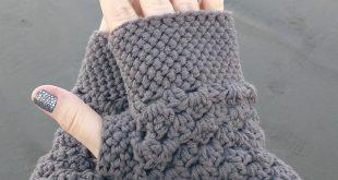 crochet gloves chunky fingerless gloves (free crochet pattern) eezcauq