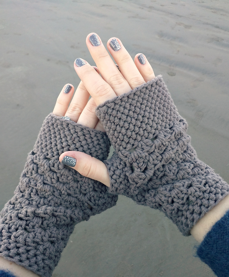 crochet gloves chunky fingerless gloves (free crochet pattern) jcwpyos