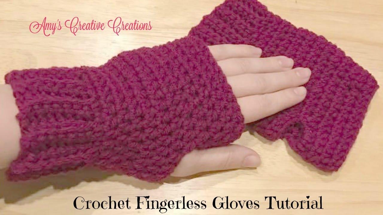 crochet gloves crochet fingerless gloves tutorial - crochet jewel - youtube dffunli