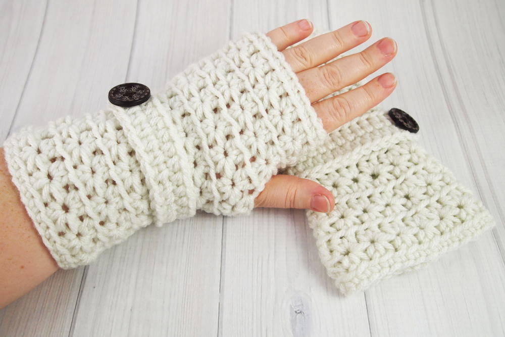 crochet gloves crochet star stitch fingerless gloves | allfreecrochet.com  ezuhbcr xbbiuon