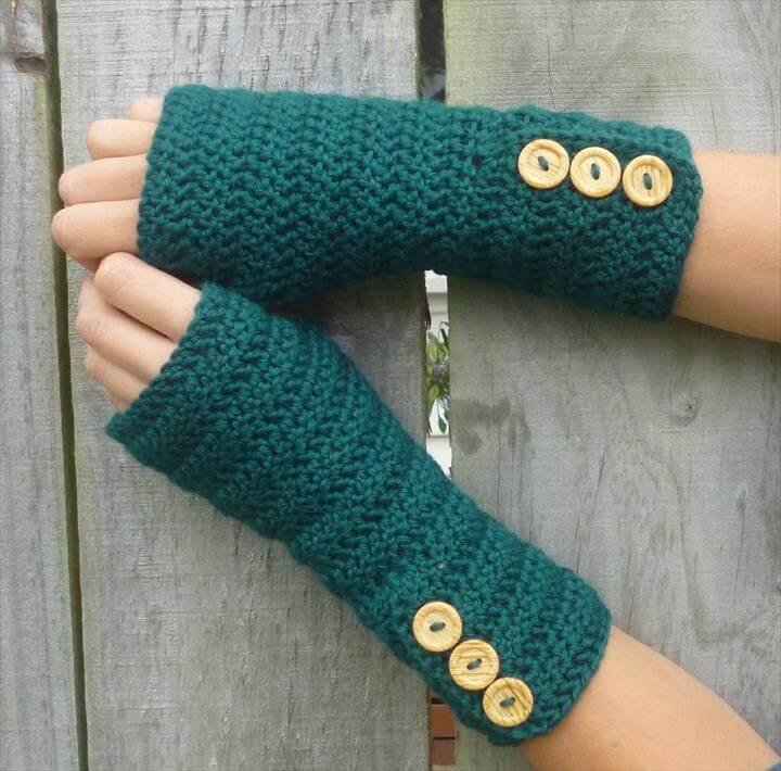 crochet gloves green wool crochet arm warmers, fingerless gloves ykvgkhj