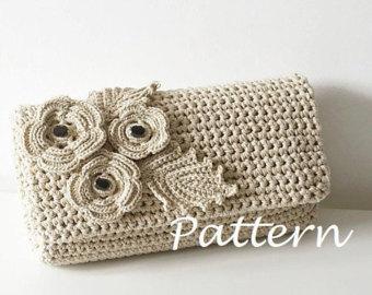 crochet handbags crochet pattern crochet bag pattern crochet purse pochette pattern woman bag,  evening oswuzzp