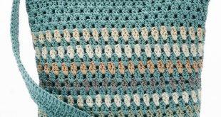 crochet handbags croft u0026 barrow® crochet harmony crossbody bag,  womenu0027s, valley stripe taeofec