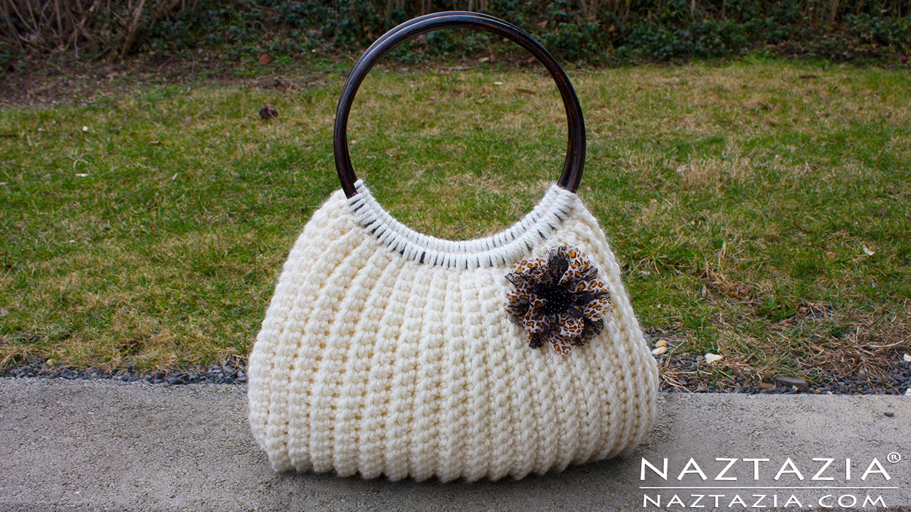 crochet handbags diy tutorial easy crochet savvy handbag purse tote - croche bolsa borsa bag csmffle