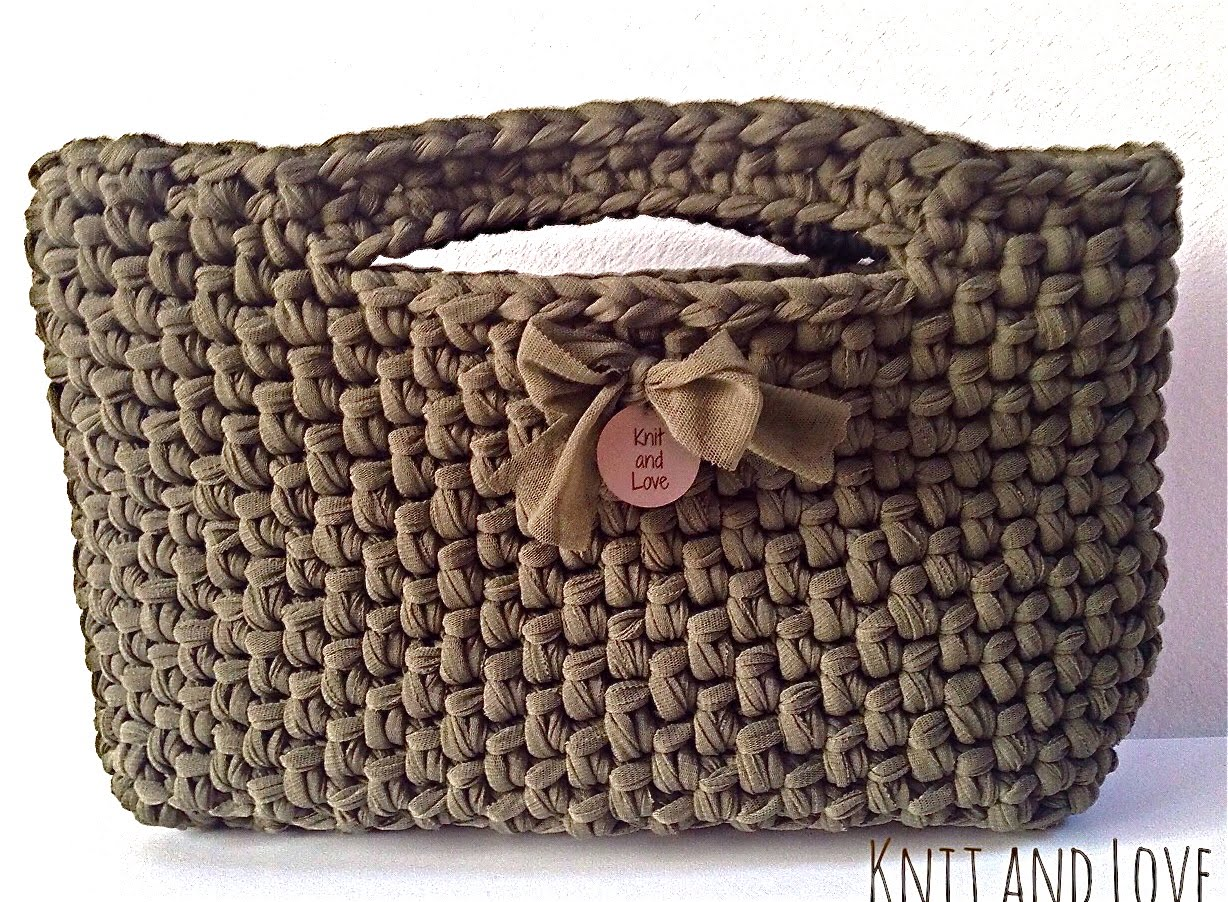 crochet handbags easy crochet bag made with fettuccia english subtitles - youtube ksabuuf