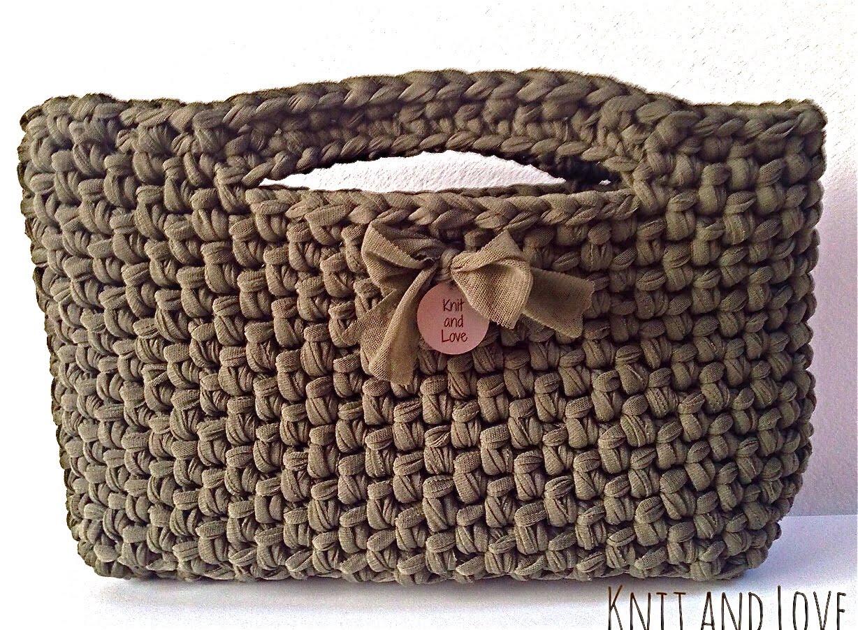 crochet handbags easy crochet bag made with fettuccia english subtitles - youtube ksabuuf