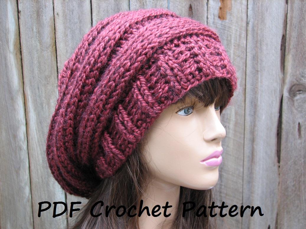 crochet hat patterns for beginners crochet hat - slouchy hat, crochet pattern pdf,easy, great for beginners,  pattern caylopc