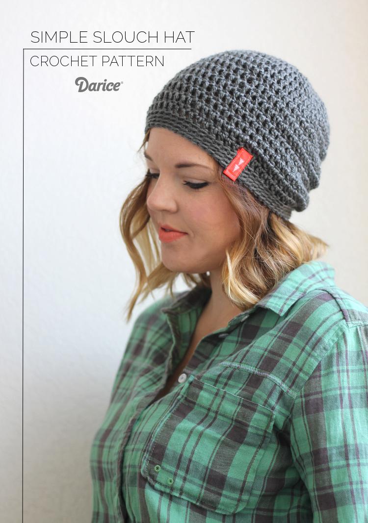 crochet hat patterns for beginners slouch-crochet-hat-pattern-darice zxlcygo